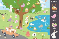 The pastel illustration with the Easter Items sidebar