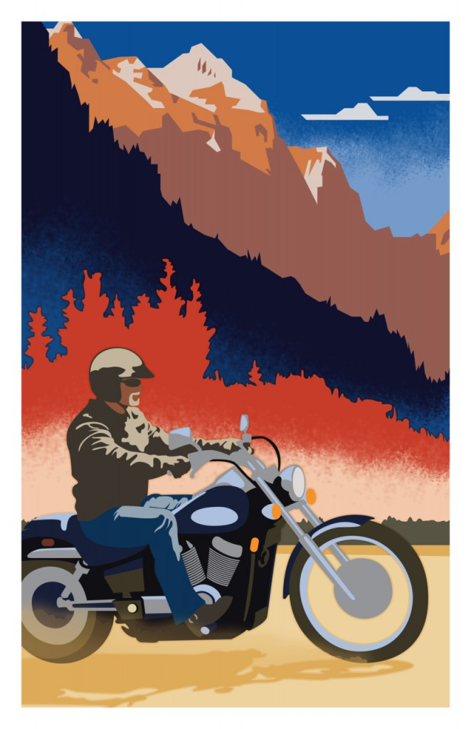 Honda Shadow Travel Poster