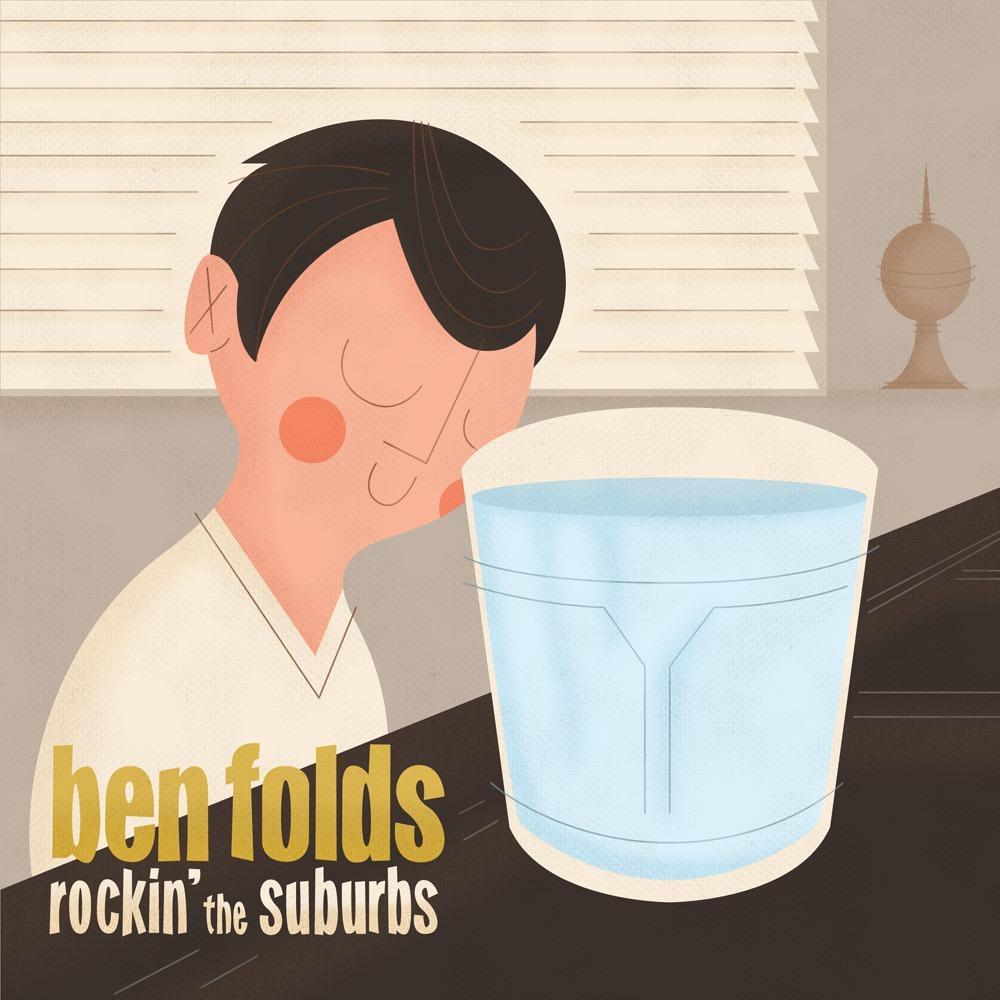 Album Cover Illustration – Ben Folds/Rockin' The Suburbs