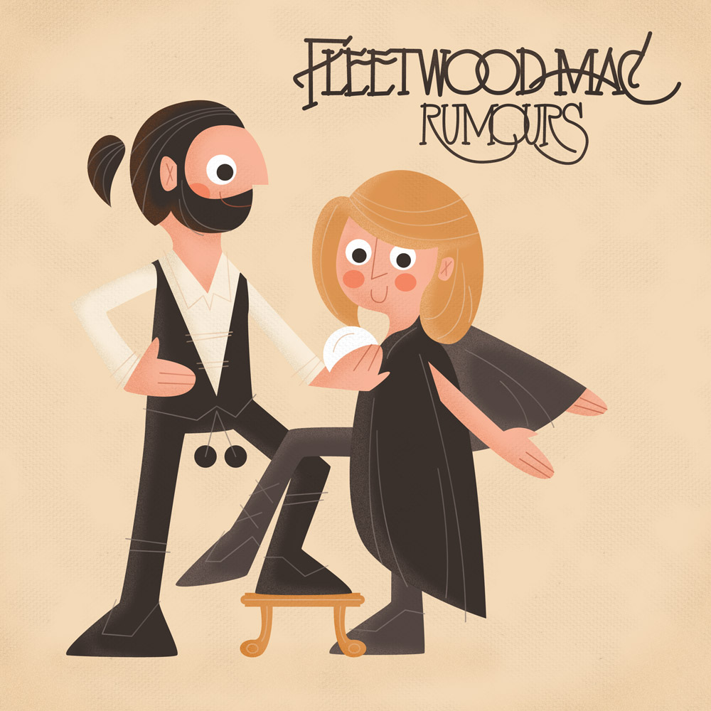 Album Cover Illustration – Fleetwood Mac/Rumours