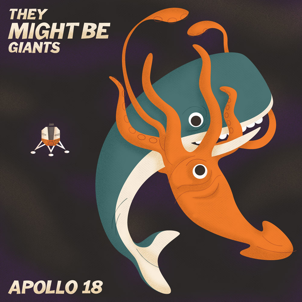 Album Cover Illustration – They Might Be Giants/Apollo 18