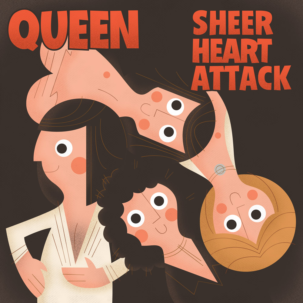Album Cover Illustration – Queen/Sheer Heart Attack