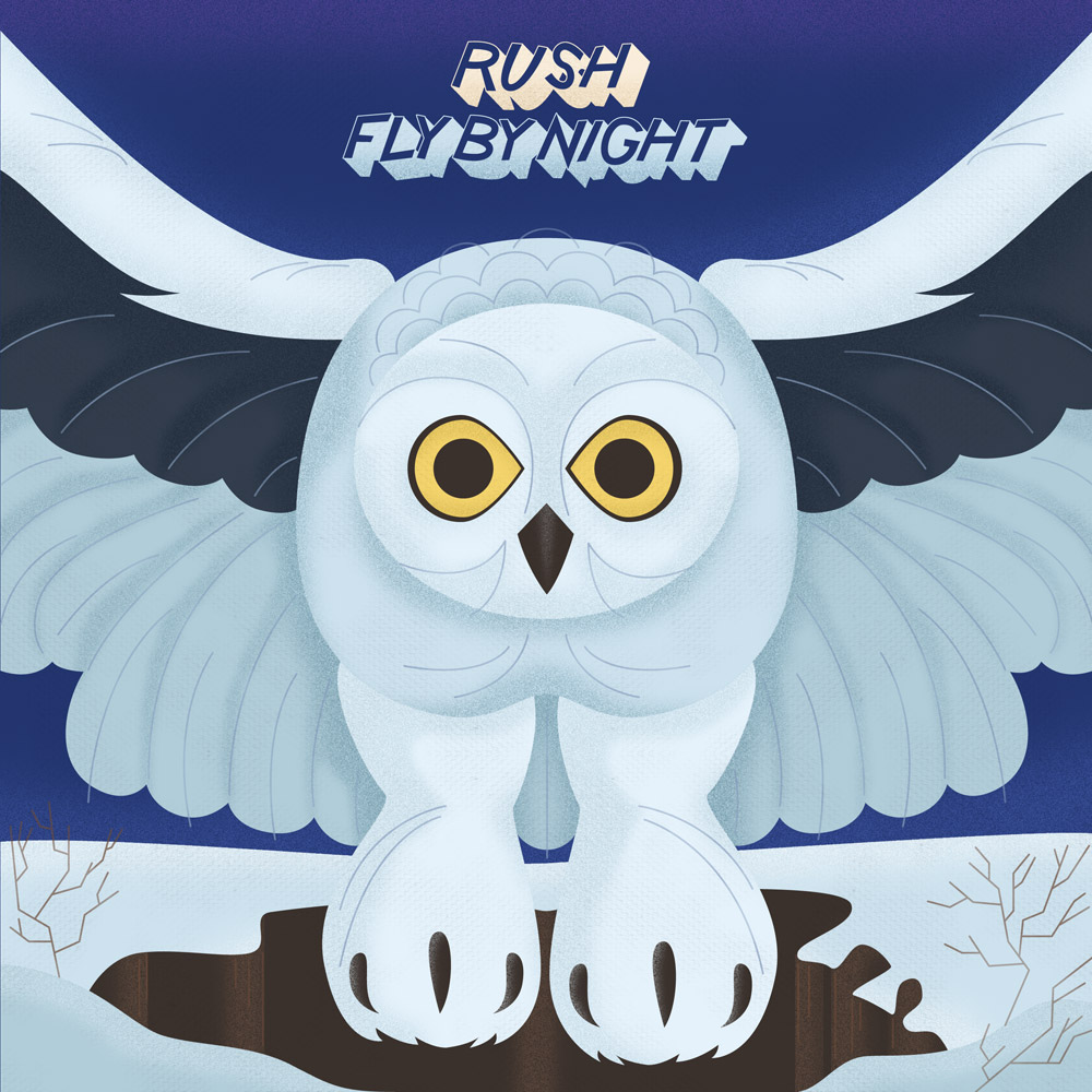 Album Cover Illustration – Rush/Fly By Night