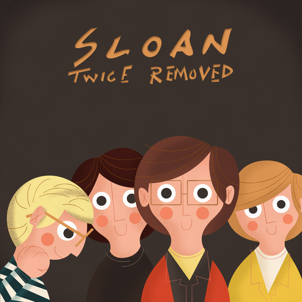 Album Cover Illustration – Sloan/Twice Removed