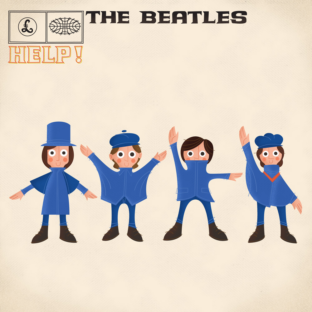 Album Cover Illustration – The Beatles/Help