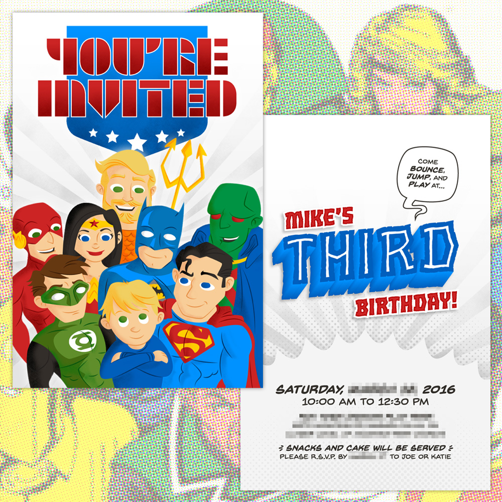 Justice League Invitations Free: Justice League Invitation