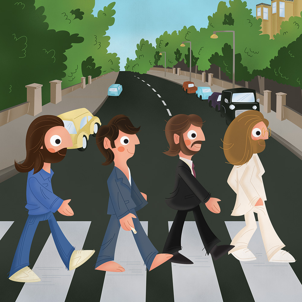 Album Cover Illustration – Abbey Road