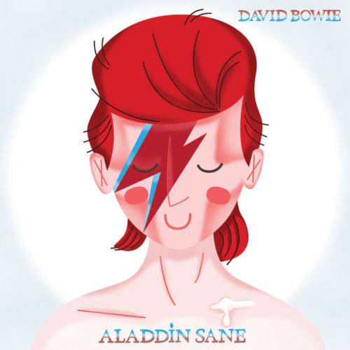 <span>Album Cover Illustration – </span>Aladdin Sane