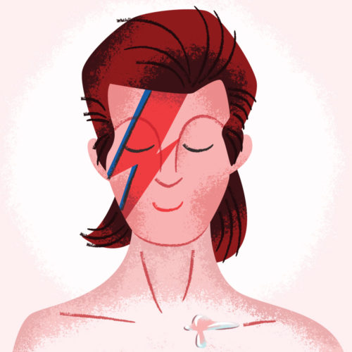 <span>Album Cover Illustration –</span> Aladdin Sane v2