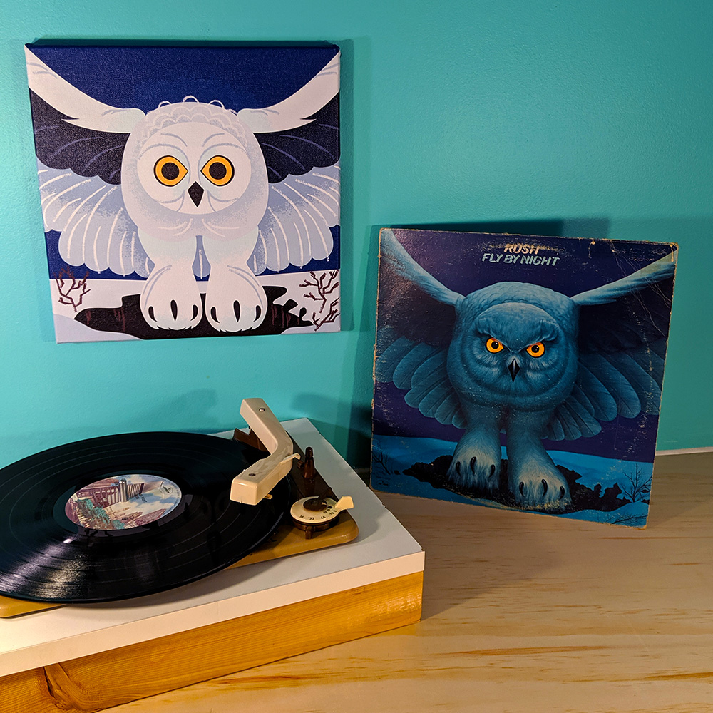 Fly By Night on canvas and vinyl