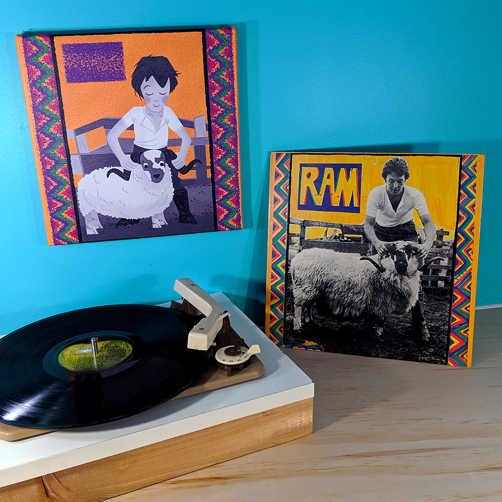 Canvas and vinyl versions of Ram by Paul and Linda McCartney