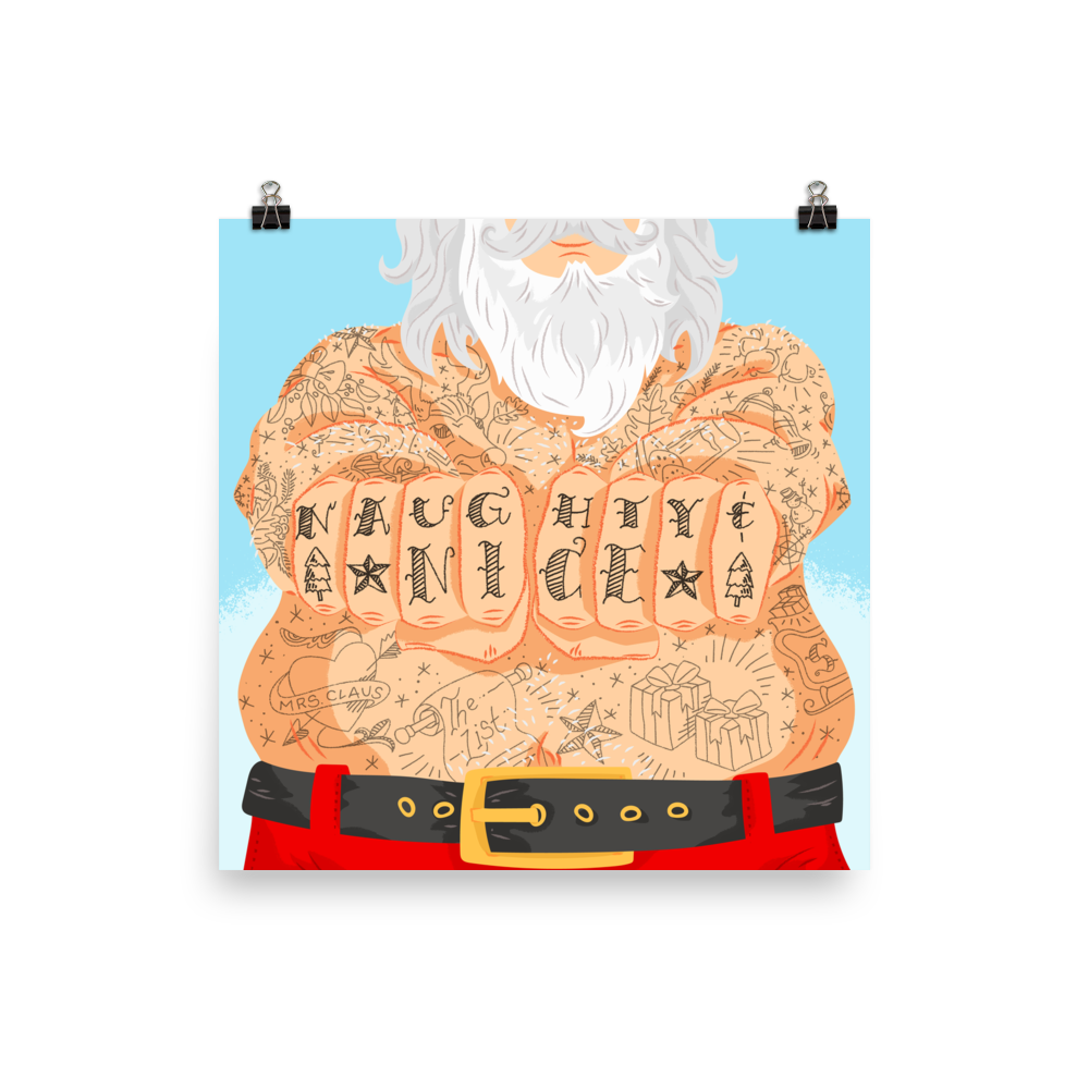 Santa With Tattoos