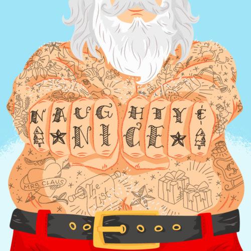Inked Up Santa