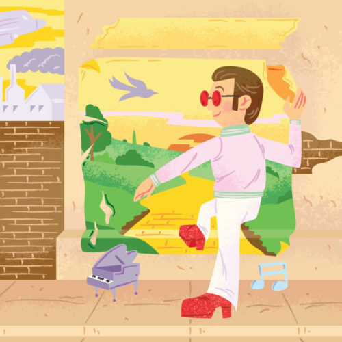 <span>Album Cover Illustration – </span>Goodbye Yellow Brick Road