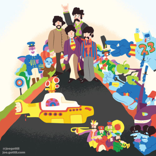 <span>Album Cover Illustration - </span>Yellow Submarine
