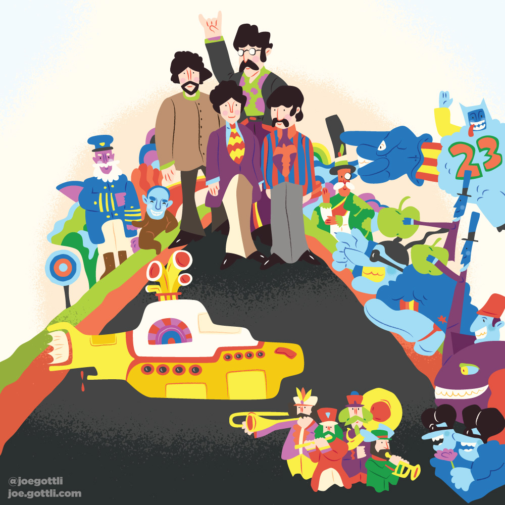 <span>Album Cover Illustration – </span>Yellow Submarine
