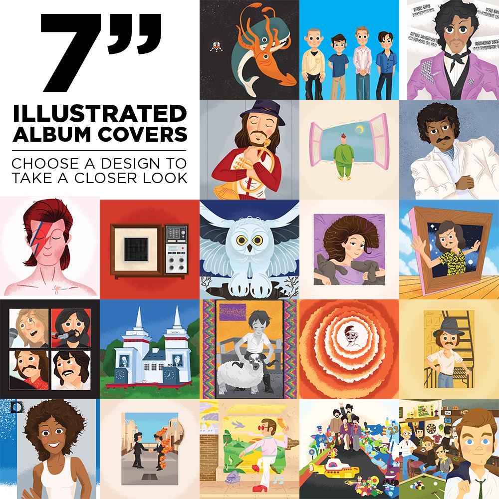 7″ Illustrated Album Cover Prints
