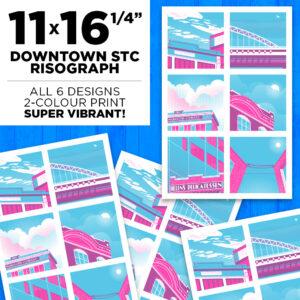 """11x16.25"""" Downtown STC Risograph"""