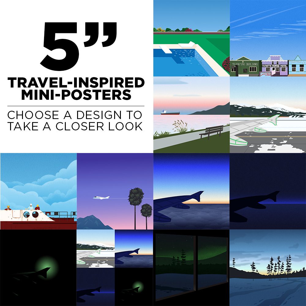 5″ Travel-Inspired Mini-Posters